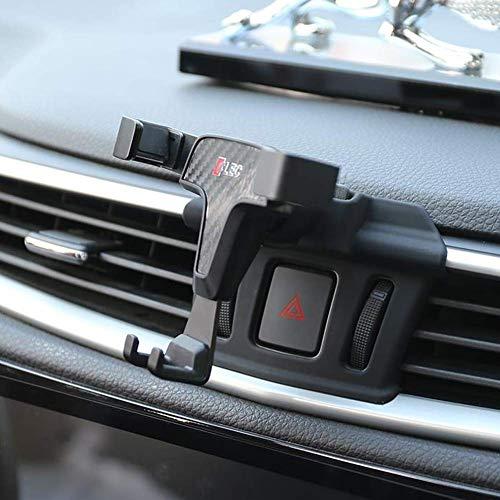 RUIYA Autotelefonhalter telefonischer Telefonhalter Support mit Verstellbarer Schwarz Silikonkissen Stoßfest telefonischer Support Für 2016-2018 Nissan Qashqai & 2017 2018 X-Trail (4-6Zoll Telefon)