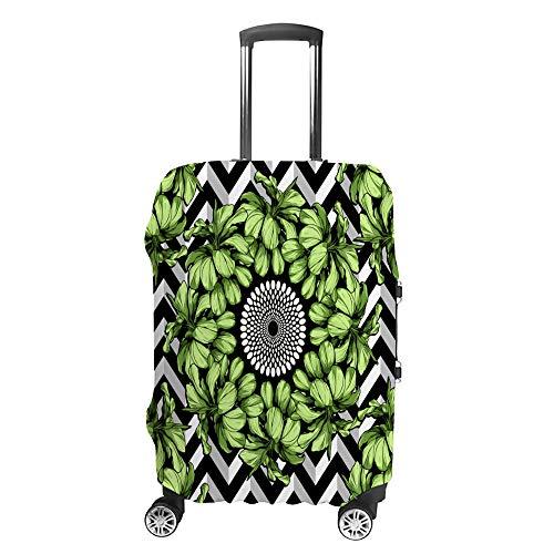 CHEHONG Funda para maleta, funda de equipaje, diseño de hoja verde, funda protectora lavable, fibra de poliéster elástica, a prueba de polvo, se adapta a 45 – 81 cm
