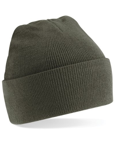 Beechfield Unisex Turn-up Beanie Baseball Cap, Grün (Olive 000), One Size