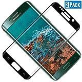 TOCYORIC Protector de Pantalla para Samsung Galaxy S7 Edge[2 Pack], 3D Curvo Full-Cover Cristal Templado Galaxy S7 Edge, Alta Definicion, 9H Dureza, Vidrio Templado S7 Edge