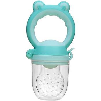 tetina repuesto 2 colores Azul Chupete mordedor antiahogo fruta beb/é Sin plastico BPA y cierre de Seguridad
