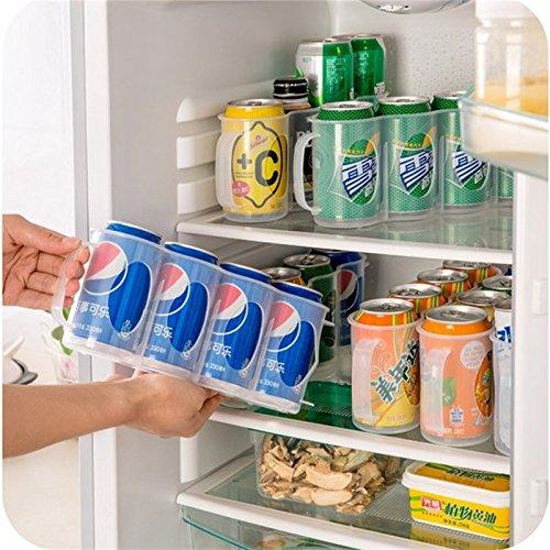 MeterMall Home Plastic Bier Soda Kan Opslag Houder voor Koelkast Organizer Rack Keuken Ruimte Saver Houders
