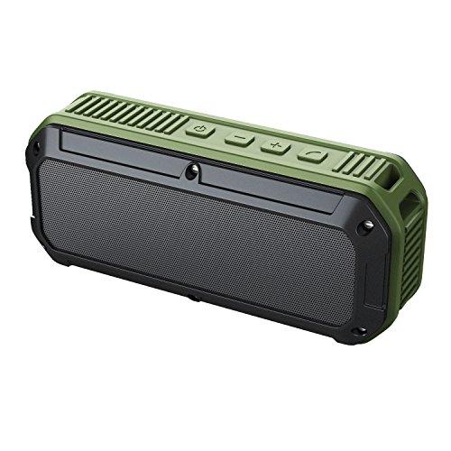 AUKEY Bluetooth 4.0 Lautsprecher Speaker Wasserfest Staubdicht Handsfree für Aussenbereich, Hoher Lautstärke für iPhone, iPad, Samsung, HTC und Weitere (SK-M8 IP64)