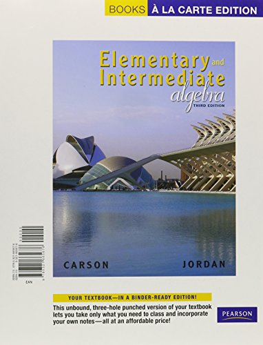 Elementary and Intermediate Algebra, Books a la Carte Edition, MyMathLab, and Worksheets (3rd Edition)