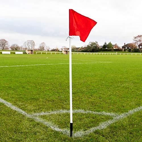 FORZA federbelastete Fußball Eckfahne – 4er-Set von professionellen Eckfahnen