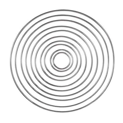 Anillos De Metal Material De Atrapasueños Aros De Macramé De Metal Anillos De Artesanía Floral De Acero Para Hacer Decoración De Coronas De Boda, Atrapasueños Y Manualidades Para Colgar En La