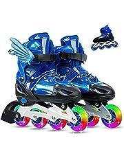 احذية التزلج مريحة وكلاسيكية وقابلة للتعديل للفتيات والاولاد