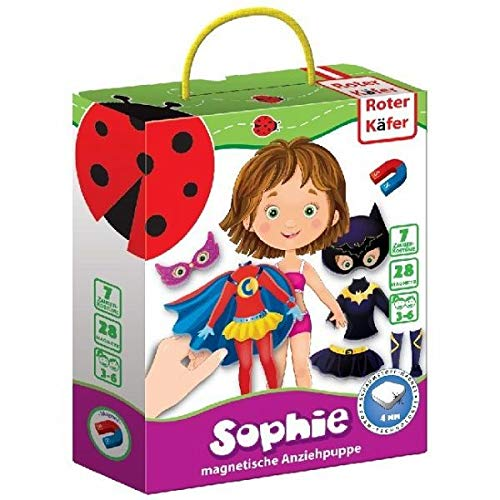 Roter Käfer Sophie - Magnetische Anziehpuppe