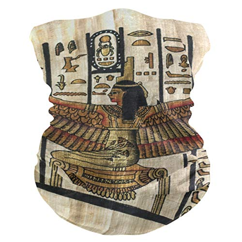 Multifuncional resistente al viento con textura de pergamino egipcio, pañuelo para la cara, pañuelo a prueba de polvo, pasamontañas, pasamontañas, transpirable, para exteriores, para mujeres y hombres