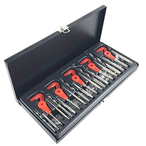 Draad Repair Kit, 131pcs Auto Tool Set Rechte Coil met stalen koffer, geschikt voor reparatie motoren, auto's, Fixed Bougies