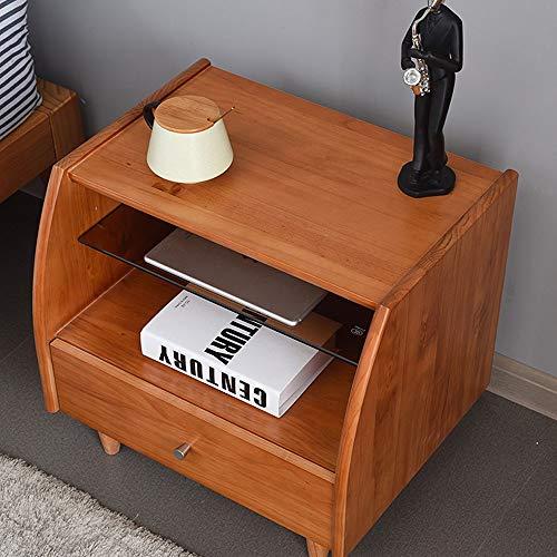 Yamyannie Mesas de Noche Madera Simple cabecera gabinete Gabinete de Almacenamiento Mesilla de Noche Mesilla de Noche Gabinete de Almacenamiento para Casa (Color : Marrón, Size : 40x45x49.8cm)