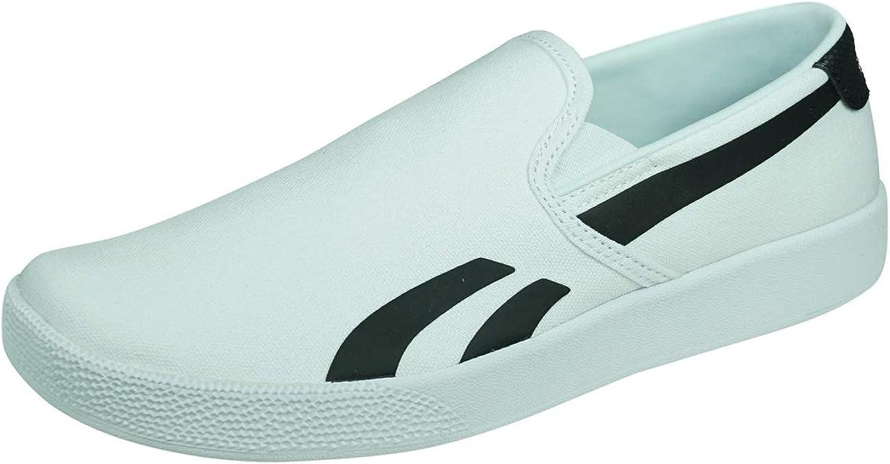 Reebok Royal Bonoco Slip Womens Slip On Sneakers Casual Walking Shoes-White-7.5