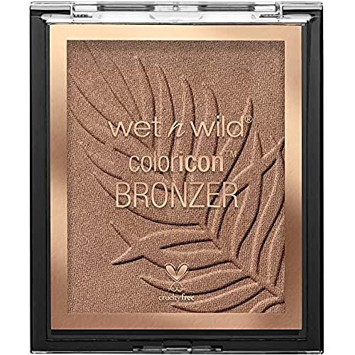 Wet n Wild - Color Icon Bronzer - Polvo Bronceador de Larga Duración - Tono Bronceado Natural en el Rostro, en Cuello y Pecho - Fórmula Enriquecida con Gel - Vegano - Sunset Striptease - 1 Unidad