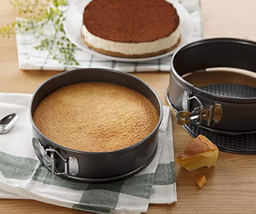 Hiware 8 Inch Non-stick Springform Pan with Removable Bottom - Leakproof Cheesecake Pan Bakeware