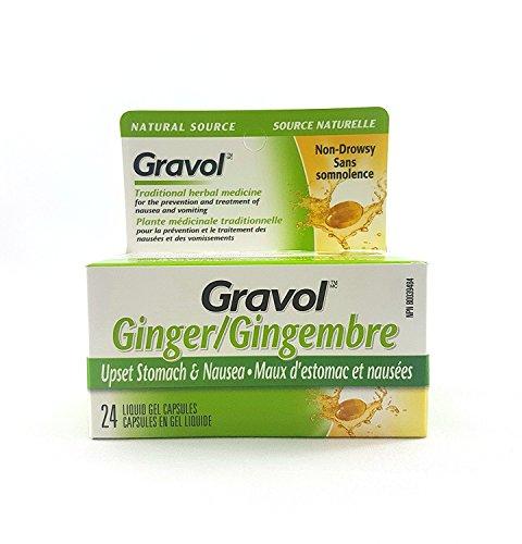 Gravol GINGER Antinauseant 24 GELS New*