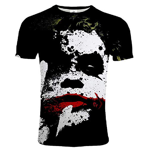 Preisvergleich Produktbild U / A Spring Fashion Herren T-Shirt mit 3D-Digitaldruck,  kurzärmelig Gr. XXL,  02