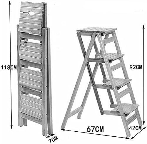 bienvenido a orden DQMSB Escalera multifunción de Madera Maciza, Taburete Taburete Taburete Plegable para el hogar, Escalera de Escalada portátil para Interiores, Escalera de Cuatro peldaños. Taburete (Color   B)  100% garantía genuina de contador
