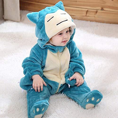 Cosplay Snorlax Kostüm Baby Boy Mädchen Halloween Pyjama 1-3 Jahre Kinder Kid Kawaii Netter Reißverschluss Kigurumis Overall-9M