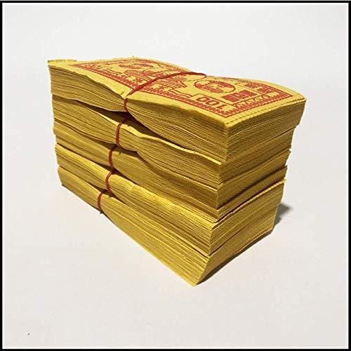 XUETT Chinese Joss Paper Money Ancestor Money Chinese Joss Incense Paper Burning Paper Money Yellow For Funerals 50pcs * 10