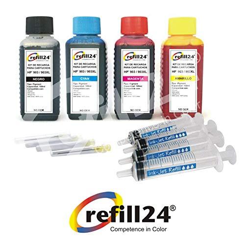 Refill-Kit für HP Tintenpatronen HP 903x l 903schwarz und Farbe, hochwertige Tintenpatrone inkl. Zubehör