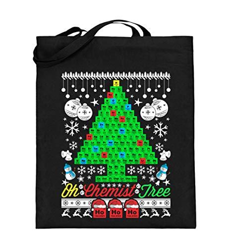 Chemie Ugly Christmas Sweater Chemiker - Jutebeutel (mit langen Henkeln)