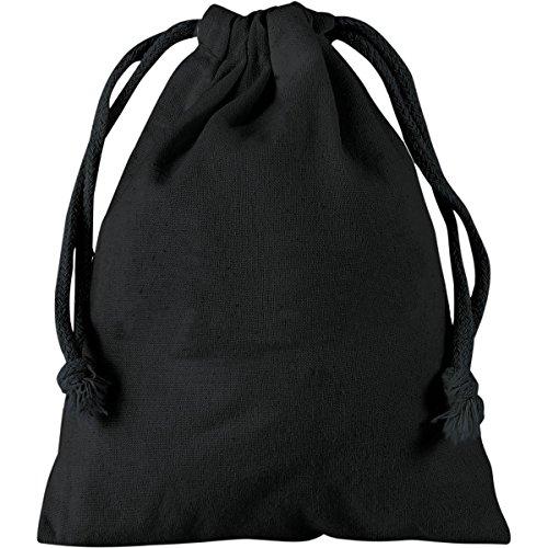 Baumwoll-Zuziehbeutel ca.25x30cm in 8 schönen Farben Schwarz