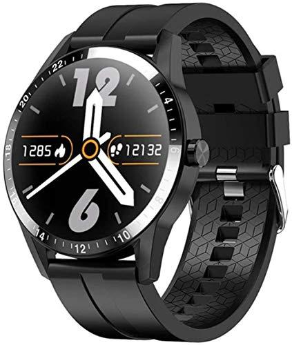 Reloj inteligente G20 para hombre, estilo de negocios, soporte Bluetooth, monitor de frecuencia cardíaca, táctil completo, reloj inteligente para Android iOS Phone-C