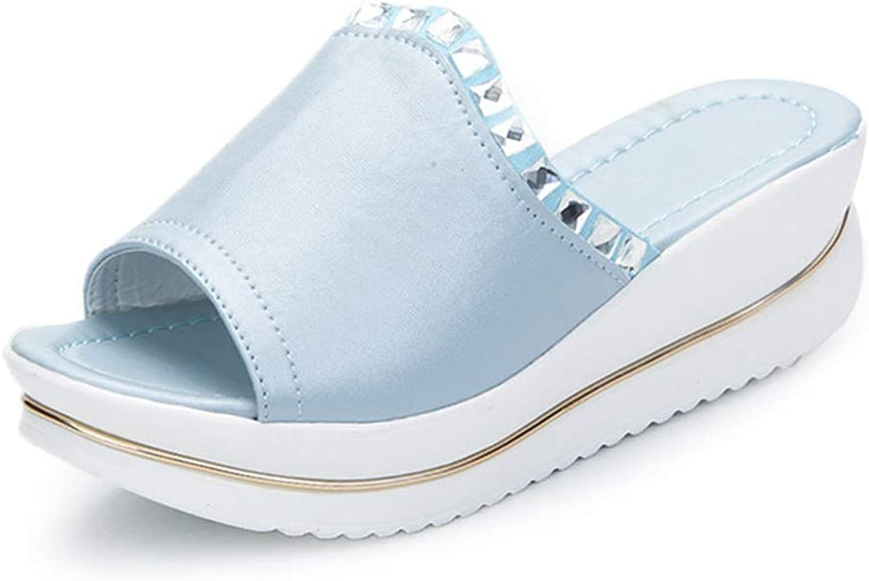 T-JULY Women Wedges Slippers Platform Ladies Summer Sandals Crystal Beach Leisure shoes Sandalias