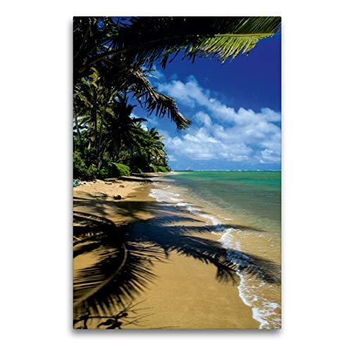 Premium Textil-Leinwand 60 x 90 cm Hoch-Format Pukoo Beach - Molokai | Wandbild, HD-Bild auf Keilrahmen, Fertigbild auf hochwertigem Vlies, Leinwanddruck von Florian Krauss - www.lavaflow.de