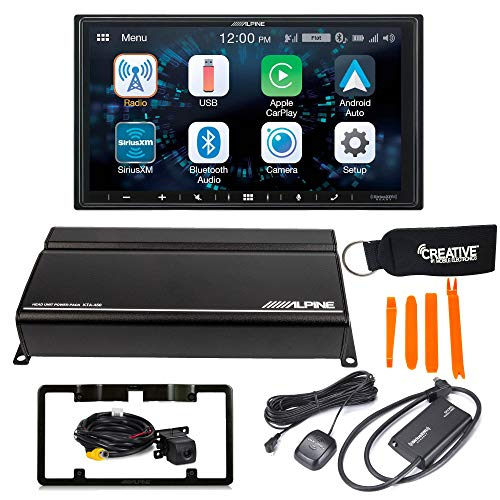 Alpine iLX-W650 with CarPlay, Android Auto + KTA-450 4-Channel Amplifier, Back up Camera, SXV300 Sirius XM Tuner