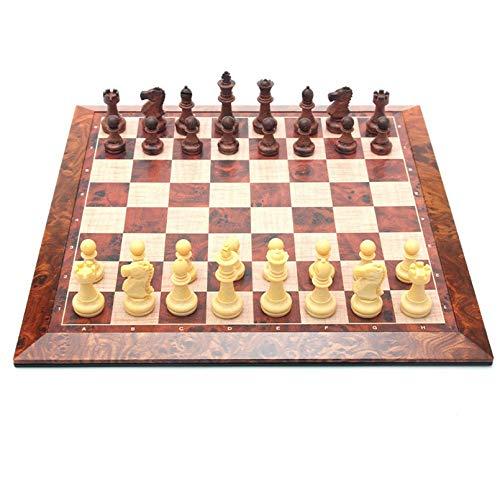 Soul Case Modern hölzerner internationaler Schach-Set, magnetisches Schach, Schachbrett Traditionelle Spiele mit speicher tragbarer Reiseschachbrett Puzzle-Spiel für Erwachsene und Kinder - Nicht-Fold