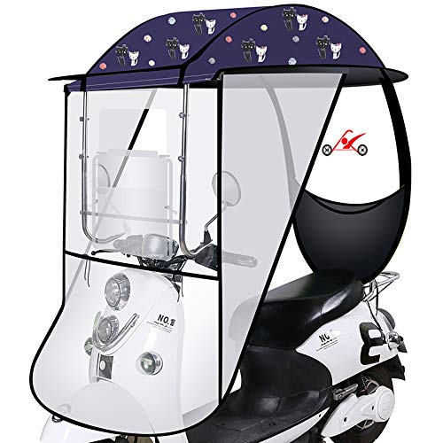 LHSJY-DP Cubierta De Lluvia para Sombrilla De Motocicleta, Toldo De Paraguas De Coche Eléctrico Funda Impermeable para Scooter con Espejo Retrovisor para Scooter De Motor De Coche Universal,2