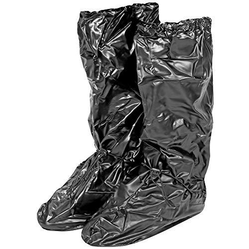 Wasserdichte Schuhüberzieher aus PVC - stabil und wiederverwendbar - mit rutschfester und verstärkter Sohle - Galoschen für Regen, Schnee und Matsch - Überschuhe - Hoch (S (36-39), Schwarz)