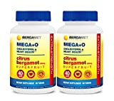 Citrus Bergamot SuperFruit MEGA+O | Extra Strength 40% BPF | Cholesterol & Heart Supplement | Supported by Clinical Studies | Manage Blood Glucose & Blood Sugar | Organic | 2 Months Supply 120 Tabs