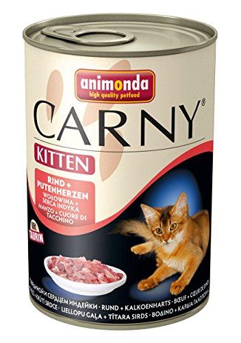Animonda Carny Kitten Rind plus Putenherzen, 6er Pack (6 x 400 g)