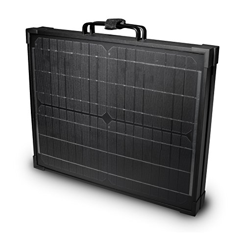 Nature Power 55702 120-watt Portable Monocrystalline Solar Panel for 12-Volt Charging in Briefcase Design