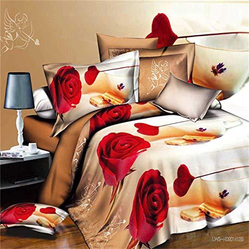 huyiming bed linings Verwendet für 3D große Version des rechtwinkligen vierteiligen Bettbezugs: 200 * 230cm Bettlaken : 220 * 230cm