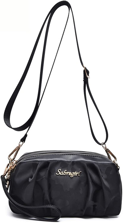Shoulder Handbags,GDGY Shoulder Bags Girl Clutch double Zipper for Women (black)