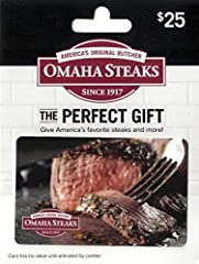 Omaha Steaks gift cards make the perfect gift for birthdays, weddings, holidays, corporate gifts and more. Omaha Steaks Gift Cards are tasteful gifts for friends, family and business associates. Shop online, by phone, mail or fax, as well as at any O...