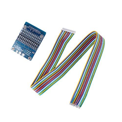 Placa de protección de batería, 13S 48V 20A Li-ion Cell 18650 Placa de protección BMS Placa de circuito impreso con función de balanceo