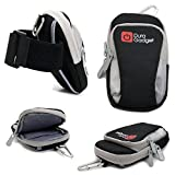 DURAGADGET Black & Grey Nylon Armband Carry Case -