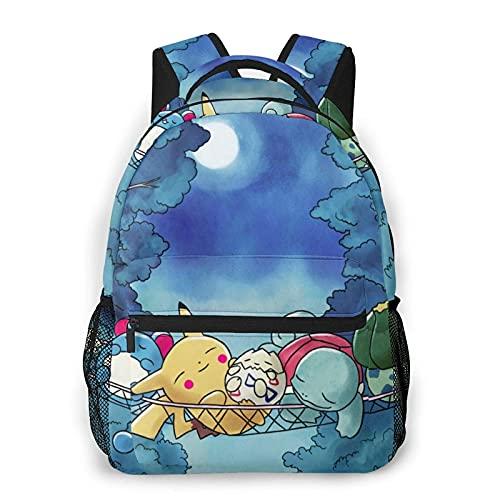 Lsjuee Cartoon Anime B-ulbasaur Casual Rucksack, Outdoor Wandern Daypacks Laptop Daypack Männer Frauen Student Bookbag 16 in