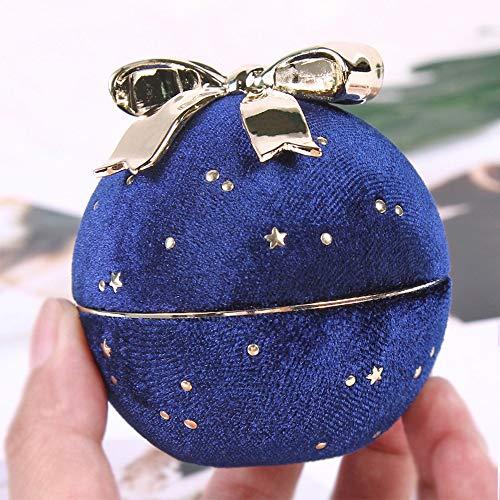 QYWJ Caja de Regalo de joyería, Elegante Estuche de exhibición de empaque de Anillo/Collar con Lazo Dorado, Ideal para propuesta, Compromiso, Bodas, cumpleaños y Aniversario