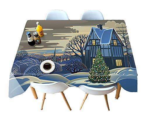 Chen Nappes Nappe Tissu Coton Et Lin Couleur Pure Petite Frais IKEA Japonais Nordic Multicolore Table Basse Rectangulaire Simple Moderne (Color : Blue, Size : 152cmx259cm)