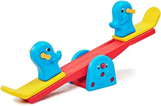 Kids Seesaw Teeter Totter Indoor Outdoor Playground Backyard Home Playroom Equipment Traditional Non-rotating Seesaw with ...