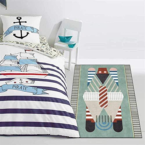 ZYYJ Moderner süßer Teppich Mintgrüner weicher Teppich, für Wohnzimmer Schlafzimmer Garderobe Küchensofa Kinderzimmer Rutschfest-60 * 90CM