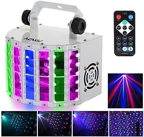 Lyre Led, RGBW disco eclairage soiree,100-240V 7 Canaux, Vocale commande/Contrôle automatique/Réglage de la vitesse/F...