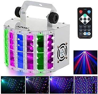 Lyre Led, RGBW disco eclairage soiree,100-240V 7 Canaux, Vocale commande/Contrôle automatique/Réglage de la vitesse/Flash ...