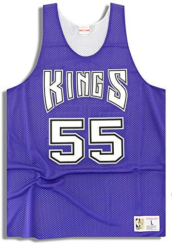 Mitchell & Ness Sacramento Kings Williams #55 - Camiseta reversible, color morado, tamaño extra-small