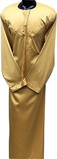 Thobe, Dishdasha, Kandora Arabic Muslim Wear For Men's with Long Sleeve Round Neck